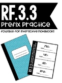 RF.3.3 - Prefix Foldable for Interactive Notebooks