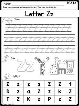 RF.K.1.d- Letter Recognition