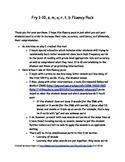 RF.1.3, RF.1.4 RtI: Learn to Read Fluency Pack-Set 1