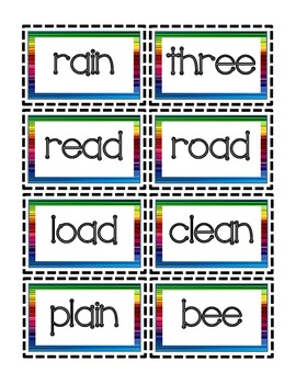 RF.2.3b Word Sort and Matching Game