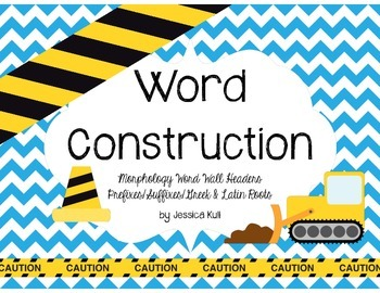 "RF.4.3 and L.4.4 ""Word Construction"" Morphology Word Wall Headers"