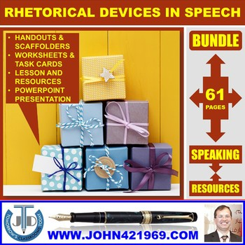 RHETORICAL DEVICES IN A SPEECH BUNDLE