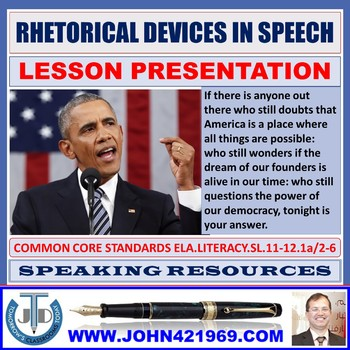 RHETORICAL DEVICES IN A SPEECH LESSON PRESENTATION