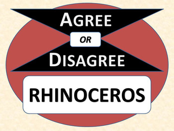 RHINOCEROS - Agree or Disagree Pre-reading Activity