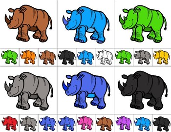 RHINOS  Color Match Clip It {A Beginning Work Task)