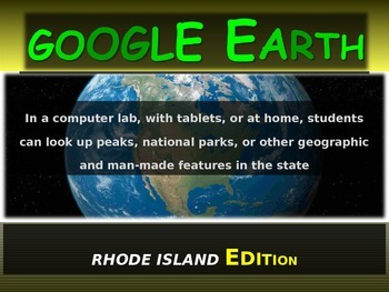 """""""RHODE ISLAND"""" GOOGLE EARTH Engaging Geography Assignment (PPT & Handouts)"""