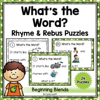 RHYME AND REBUS WORD PUZZLES  - Beginning Blends