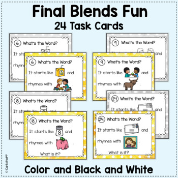 RHYME AND REBUS WORD PUZZLES  - Final Blends