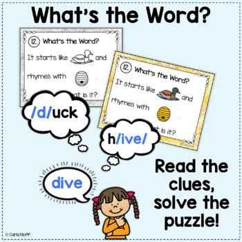 RHYME AND REBUS WORD PUZZLES - Long Vowels