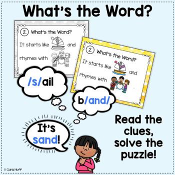 RHYME AND REBUS WORD PUZZLES - Short Vowels Bundle