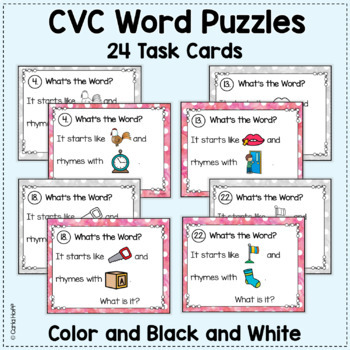 RHYME AND REBUS WORD PUZZLES | Words with -ck