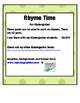 PHONOLOGICAL AWARENESS- RHYME TIME