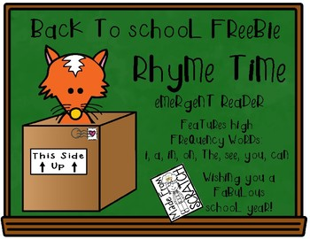 RHYME TIME FREE Emergent Reader for Emerging Readers