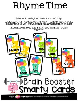 RHYME TIME - SMARTY TASK CARDS