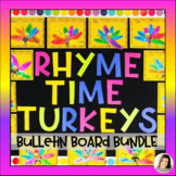 Rhyme Time Turkeys Thanksgiving Bulletin Board Centers Word Families Writing K 1