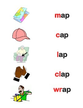 RHYMING AND FIRST SOUND FLASH CARDS - SAMPLE 20 WORDS