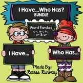 RHYMING GAME: I Have... Who Has? Word Families BUNDLE