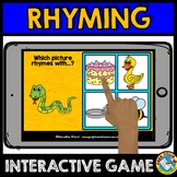 RHYMING GAMES PRESCHOOL (PHONOLOGICAL AWARENESS GAME) BOOM CARDS KINDERGARTEN