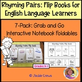 EARLY LEARNERS RHYMING PAIRS FLIP BOOKS 6-PACK: Grab & Go Interactive Foldables