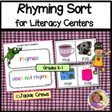 RHYMING SORT for Literacy Centers