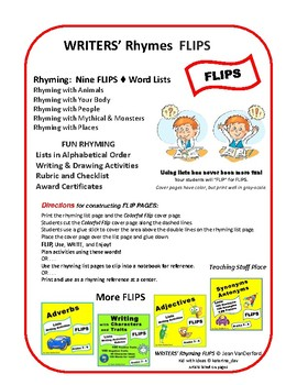 RHYMING WORD LISTS ... Interactive Pages ♥ Writers-Poets ♥ Reference  Gr.  4,5,6