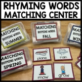 RHYMING WORDS Center Cards | Matching
