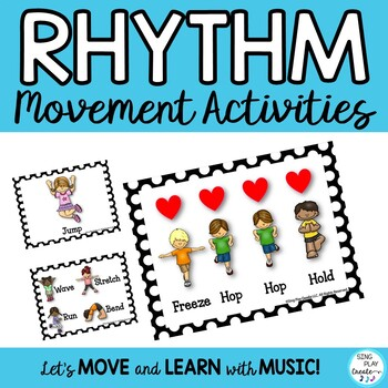 Creative Movement Rhythm Activities: Posters, Flashcards and Printables