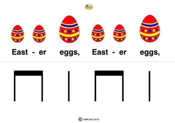 RHYTHM CARDS Easter Eggs