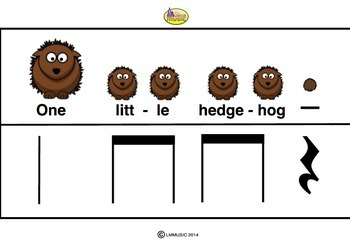 RHYTHM CARDS - Hedgehogs