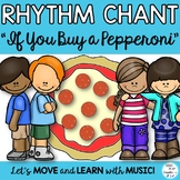 """Rhythm Chant: """"If You Buy A Pepperoni Pizza"""" Sixteenth Note Lesson, Activities"""