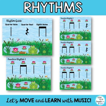 """RHYTHM CHANT """"Mr. Frog and Missus Frog"""" Music Class Lesson and Activities"""