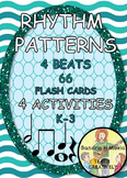 Music Rhythm Pattern Activities, Games and Lessons with Fl
