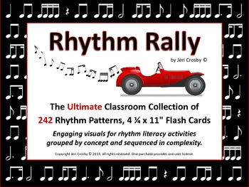 RHYTHM RALLY - Mega Set - 248 Sequenced Rhythm Flash Cards