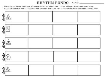 RHYTHM RONDO WRITING TEMPLATE