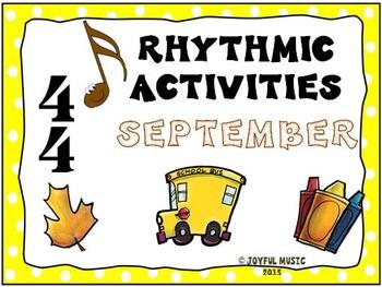 RHYTHMIC ACTIVITIES September Resources