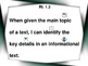 Main Idea (RI.1.2 Unit for Autism / SPED / ELL / ESL)