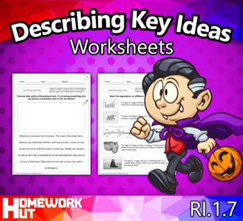 RI.1.7 - Describing Key Ideas Worksheets