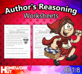 RI.1.8 - Author's Reasoning Worksheets