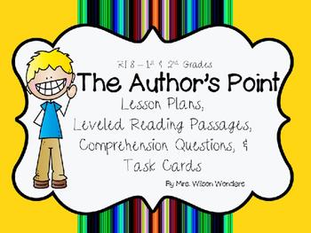 RI 1.8 & 2.8 Identify Author's Point & Reasons