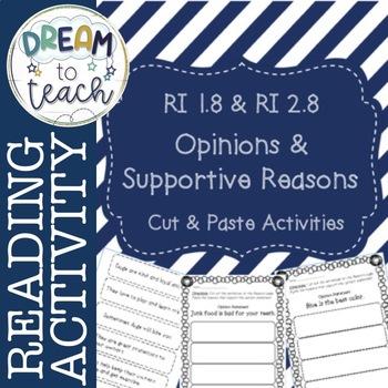 RI 1.8 & RI 2.8 Opinion & Supporting Reasons- Cut & Paste