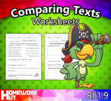 RI.1.9 - Comparing Texts Worksheets
