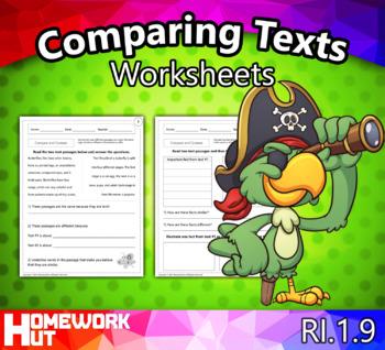 RI.1.9 - Comparing Texts Worksheets