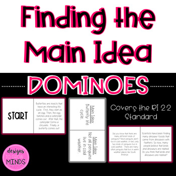 RI 2.2 Dominoes- Finding the Main Idea