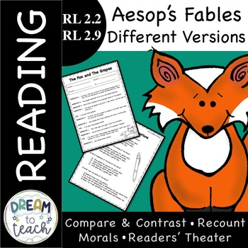 RL 2.2 & RL 2.9 Aesop's Fables Reader's Theater & Different Versions