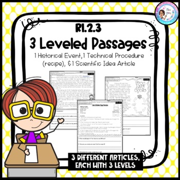 RI.2.3 Leveled Passages *Historical Event, Scientific Idea, Technical Procedure*