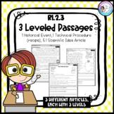 RI.2.3 Leveled Passages *Historical Event, Scientific Idea