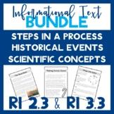 RI 2.3 & RI 3.3 Informational Text (Historical, Scientific & Steps in a Process)