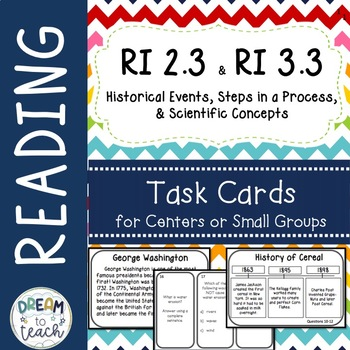 RI 2.3 Task Cards - Centers- Small Group Work