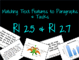 Images & Text Features RI 2.5 & RI 2.7 Matching & Task Cards