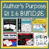 RI 2.6 Author's Main Purpose - Describe, Explain, Answer BUNDLE